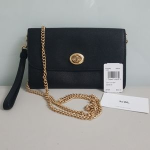 (NWT) Authentic Coach Leather Chain Crossbody